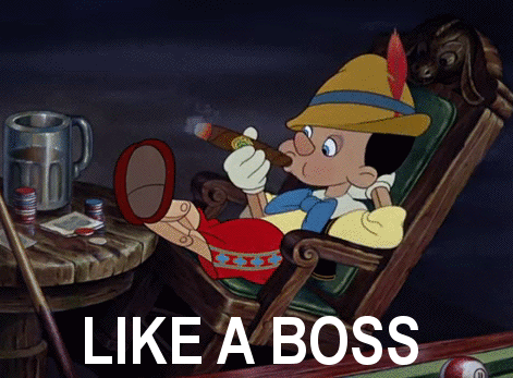Pinnochio: smoking like a boss.
