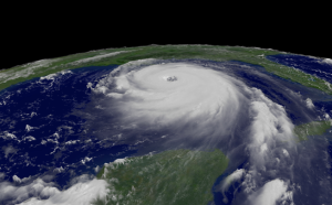 Hurricane from space.